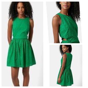 TopShop Pinafore Eyelet Dress